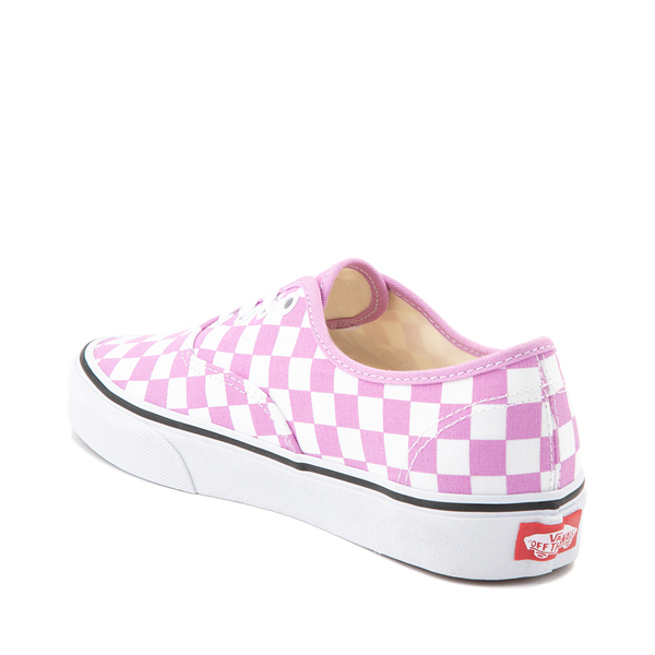 alternate view Vans Authentic Checkerboard Skate Shoe - OrchidALT1