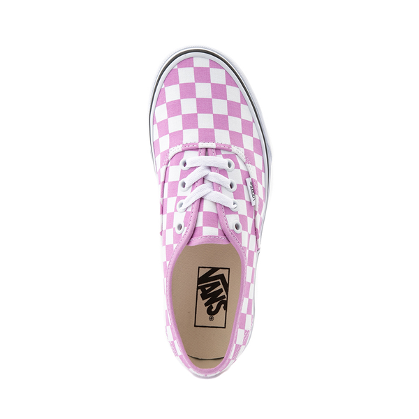 alternate view Vans Authentic Checkerboard Skate Shoe - OrchidALT2