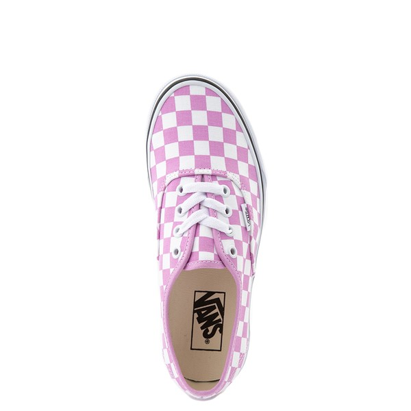 alternate view Vans Authentic Checkerboard Skate Shoe - OrchidALT4B