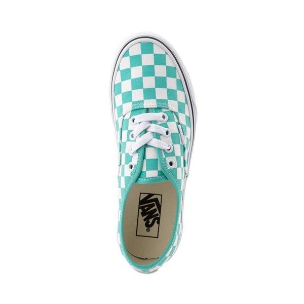 alternate view Vans Authentic Checkerboard Skate Shoe - WaterfallALT2