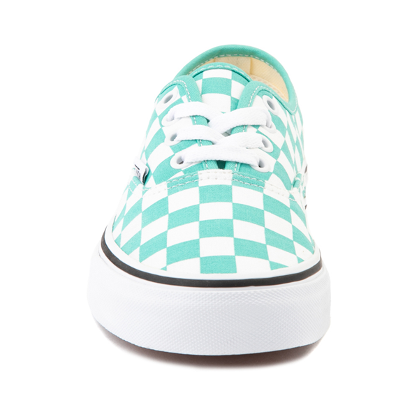 alternate view Vans Authentic Checkerboard Skate Shoe - WaterfallALT4