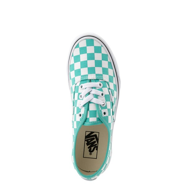 alternate view Vans Authentic Checkerboard Skate Shoe - WaterfallALT4B