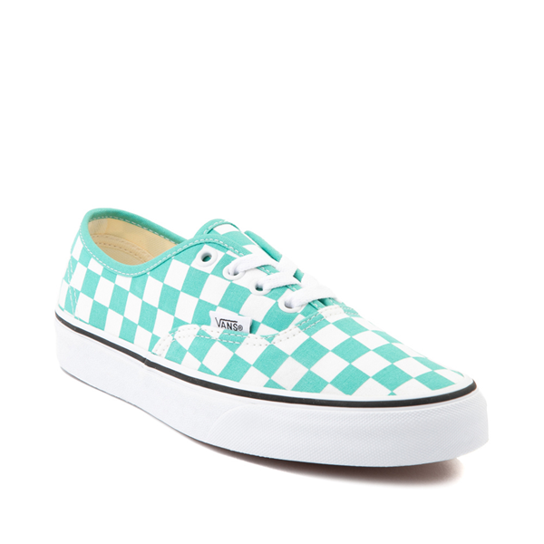 alternate view Vans Authentic Checkerboard Skate Shoe - WaterfallALT5