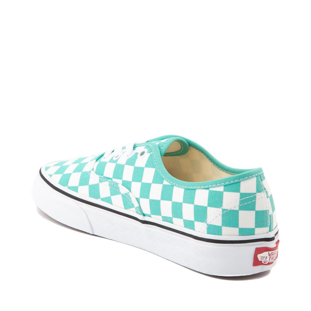 Vans Authentic Checkerboard Skate Shoe - Waterfall