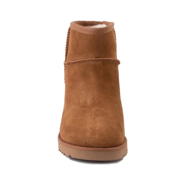 alternate view Womens UGG® Classic Femme Mini Boot - ChestnutALT4
