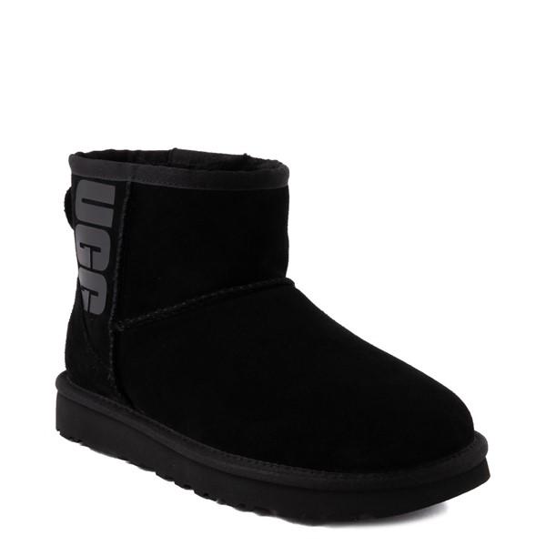 alternate view Womens UGG® Classic Mini Boot - BlackALT1