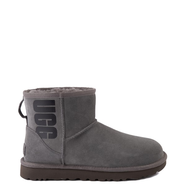 Womens UGG® Classic Mini Boot - Gray