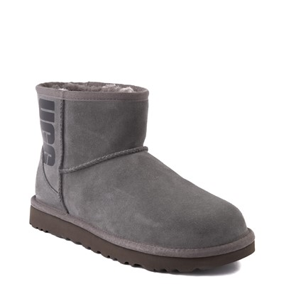 Alternate view of Womens UGG® Classic Mini Boot - Gray