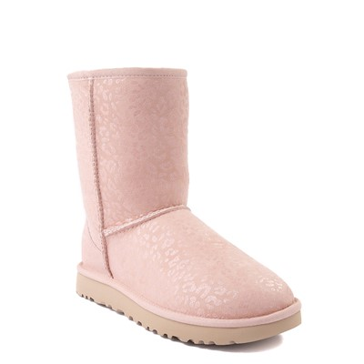 Alternate view of Womens UGG® Classic Short II Glitter Leopard Boot - Quartz