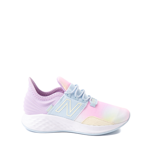 Main view of New Balance Fresh Foam Roav Slip On Athletic Shoe - Little Kid - Tie Dye