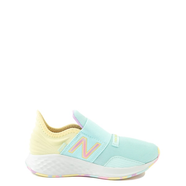 Main view of New Balance Fresh Foam Roav Slip On Athletic Shoe - Little Kid - Mint / Multicolor