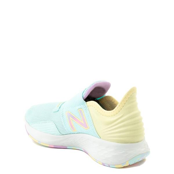 alternate view New Balance Fresh Foam Roav Slip On Athletic Shoe - Little Kid - Mint / MulticolorALT1