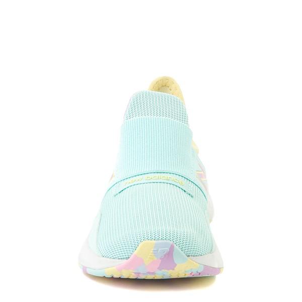 alternate view New Balance Fresh Foam Roav Slip On Athletic Shoe - Little Kid - Mint / MulticolorALT4