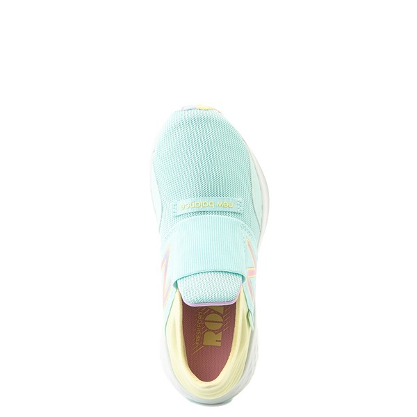 alternate view New Balance Fresh Foam Roav Slip On Athletic Shoe - Little Kid - Mint / MulticolorALT4B