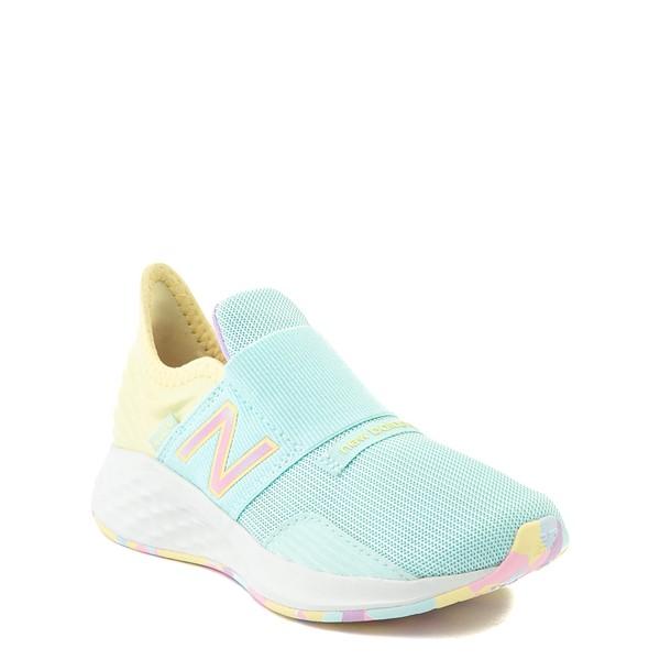 alternate view New Balance Fresh Foam Roav Slip On Athletic Shoe - Little Kid - Mint / MulticolorALT5
