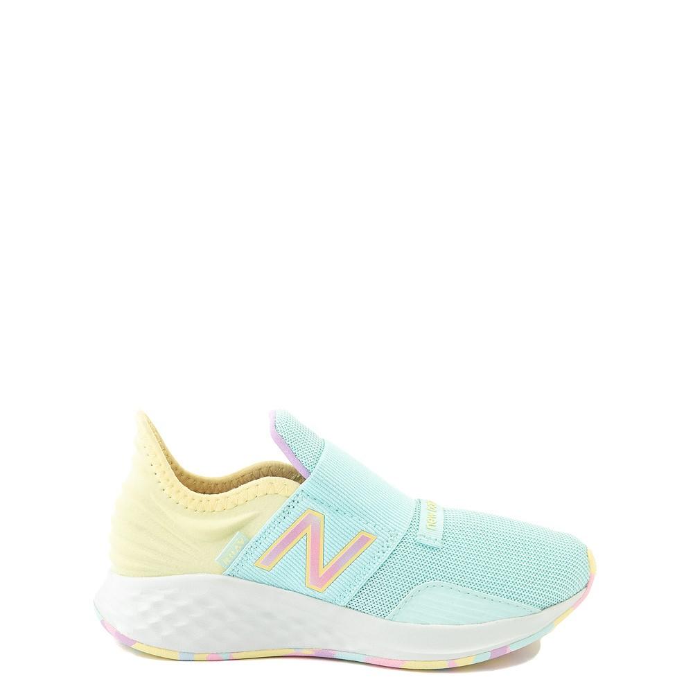 New Balance Fresh Foam Roav Slip On Athletic Shoe - Little Kid - Mint / Multicolor