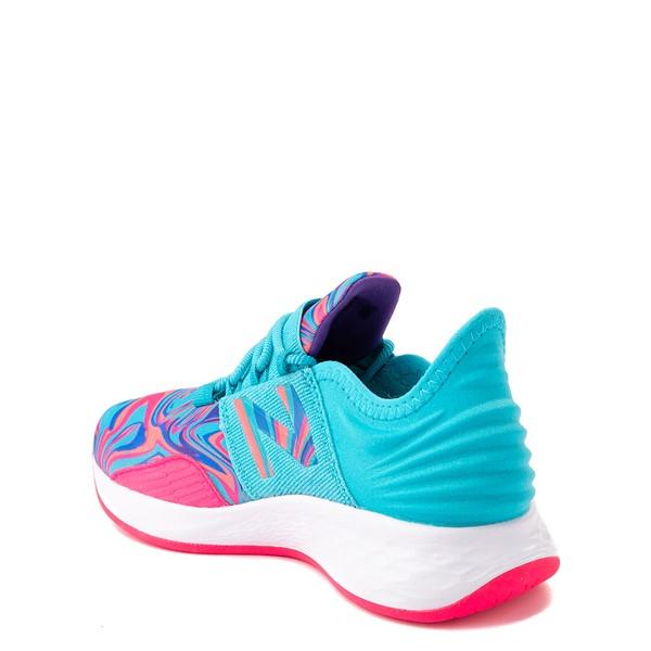 alternate view New Balance Fresh Foam Roav Athletic Shoe - Little Kid - Aqua / SwirlALT1