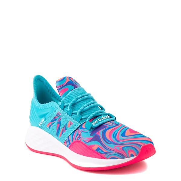 alternate view New Balance Fresh Foam Roav Athletic Shoe - Little Kid - Aqua / SwirlALT5