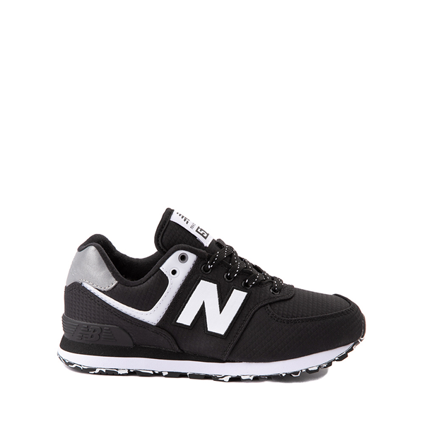 New Balance 574 Athletic Shoe - Little Kid - Black / Silver