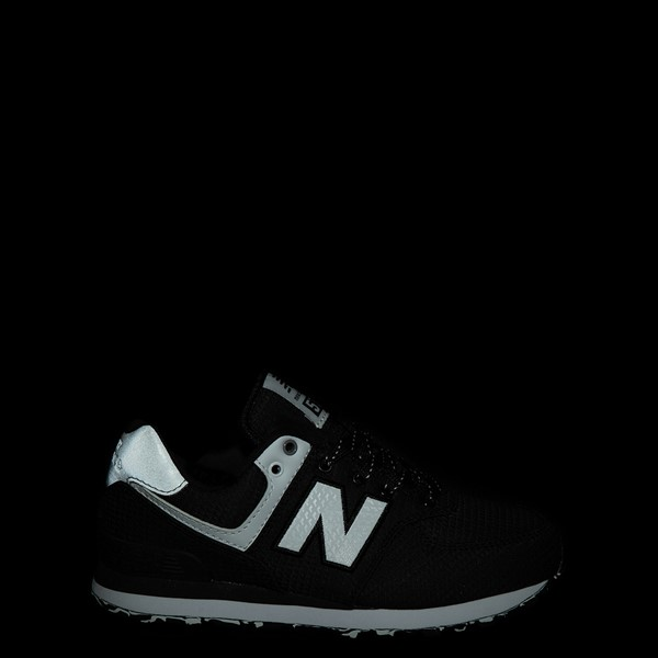 alternate view New Balance 574 Athletic Shoe - Little Kid - Black / SilverALT1