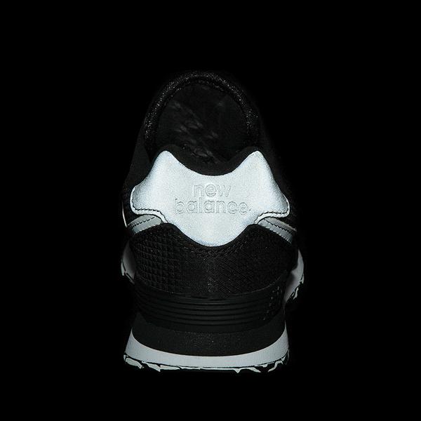 alternate view New Balance 574 Athletic Shoe - Little Kid - Black / SilverALT4B