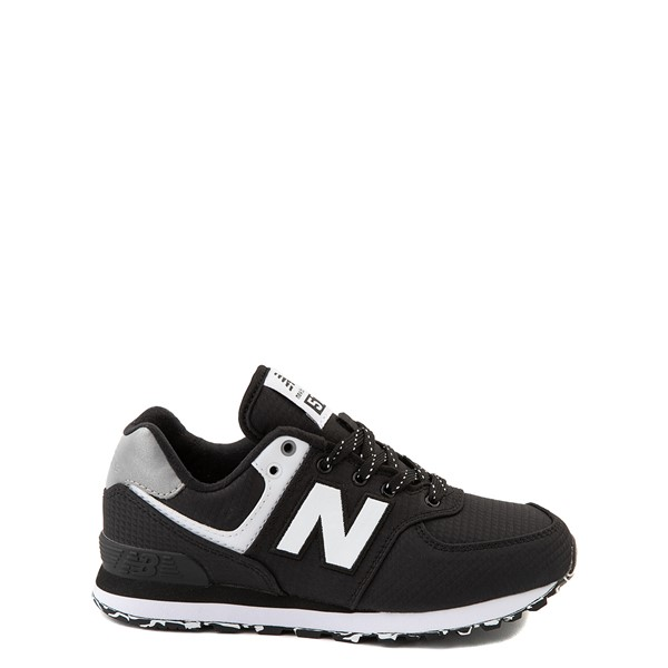 New Balance 574 Athletic Shoe - Big Kid - Black / Silver