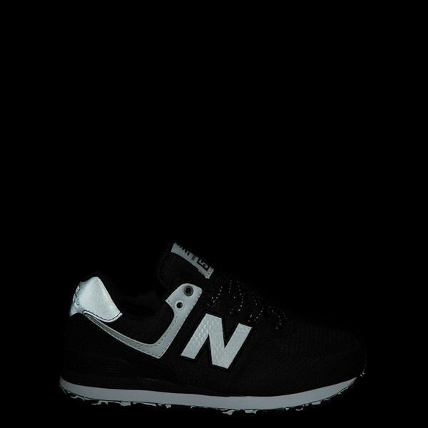 alternate view New Balance 574 Athletic Shoe - Big Kid - Black / SilverALT1