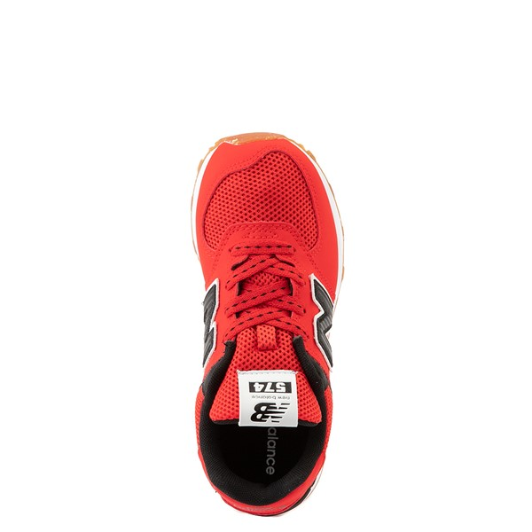 alternate view New Balance 574 Athletic Shoe - Little Kid - Red / BlackALT4B