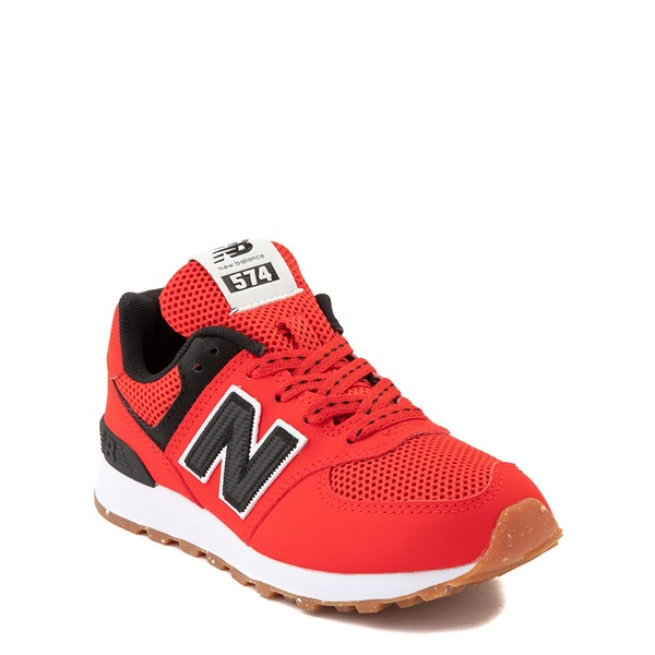 alternate view New Balance 574 Athletic Shoe - Little Kid - Red / BlackALT5