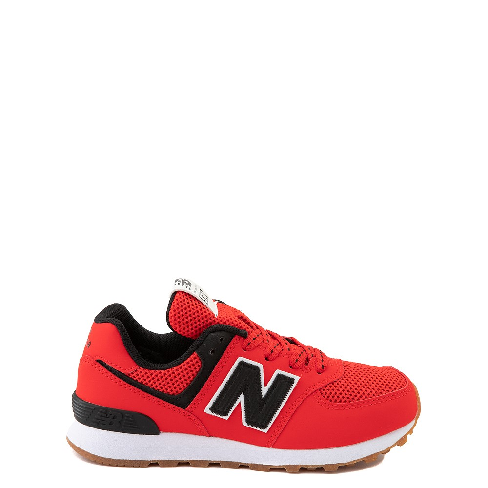 New Balance 574 Athletic Shoe - Little Kid - Red / Black