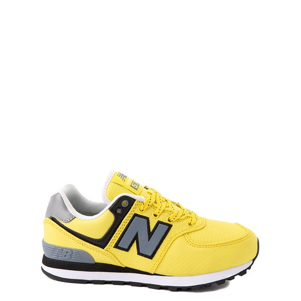 Main view of New Balance 574 Athletic Shoe - Little Kid - Yellow / Silver