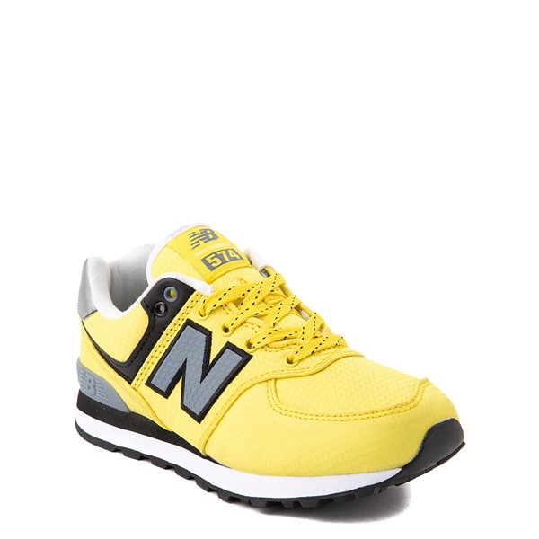 alternate view New Balance 574 Athletic Shoe - Little Kid - Yellow / SilverALT5