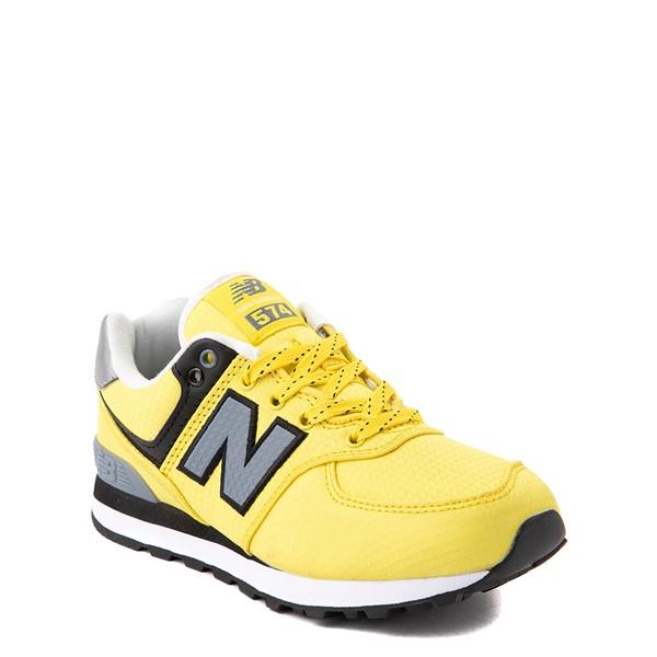 alternate view New Balance 574 Athletic Shoe - Little Kid - Yellow / SilverALT5