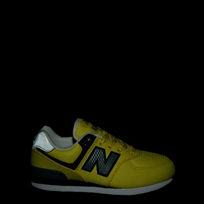 Alternate view of New Balance 574 Athletic Shoe - Little Kid - Yellow / Silver