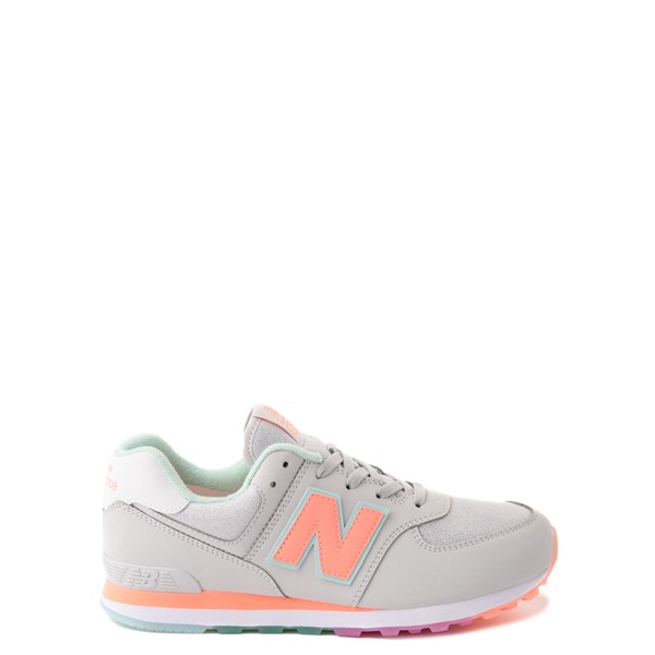 Main view of New Balance 574 Athletic Shoe - Little Kid - Gray / Multicolor