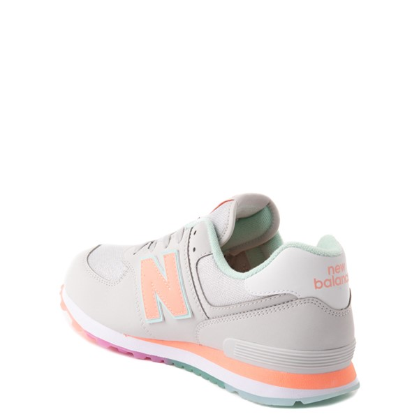 alternate view New Balance 574 Athletic Shoe - Little Kid - Gray / MulticolorALT1