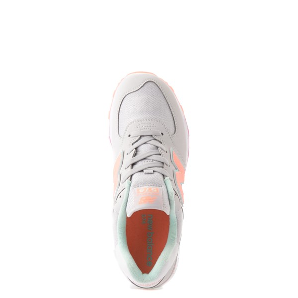 alternate view New Balance 574 Athletic Shoe - Little Kid - Gray / MulticolorALT2