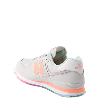 Alternate view of New Balance 574 Athletic Shoe - Little Kid - Gray / Multicolor