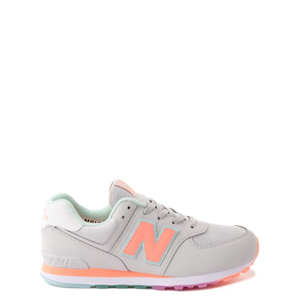 Main view of New Balance 574 Athletic Shoe - Big Kid - Gray / Multicolor