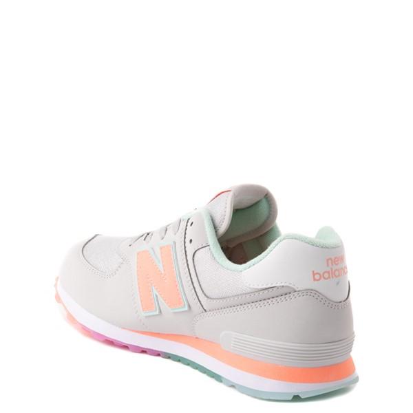 alternate view New Balance 574 Athletic Shoe - Big Kid - Gray / MulticolorALT1