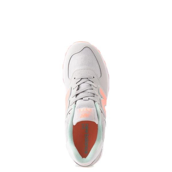 alternate view New Balance 574 Athletic Shoe - Big Kid - Gray / MulticolorALT2