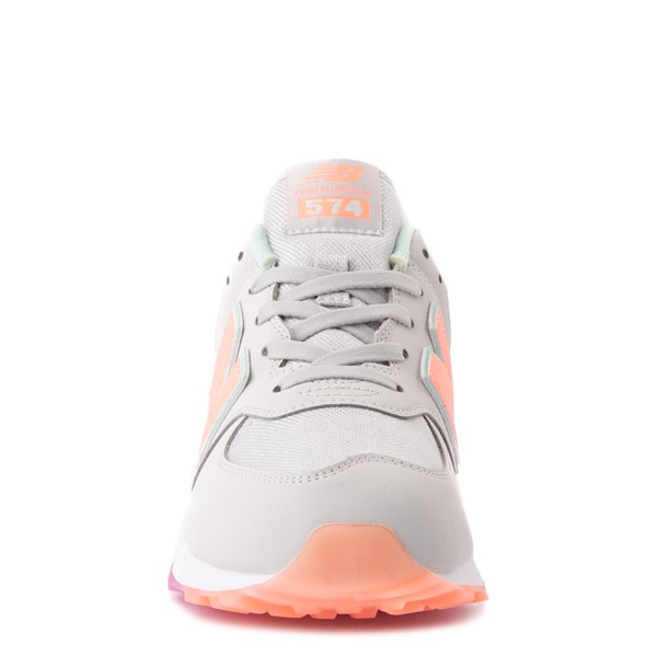 alternate view New Balance 574 Athletic Shoe - Big Kid - Gray / MulticolorALT4