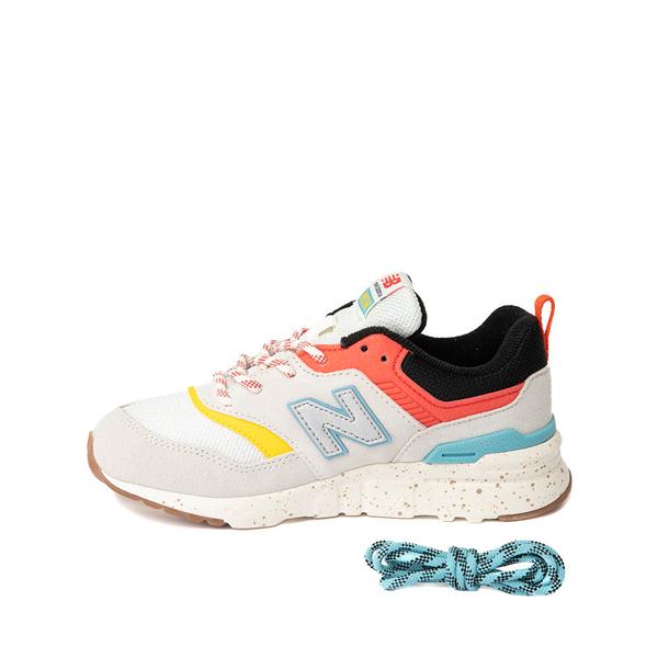 alternate view New Balance 997H Athletic Shoe - Little Kid - White / MulticolorALT1