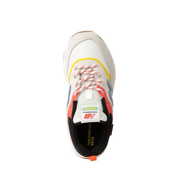 alternate view New Balance 997H Athletic Shoe - Little Kid - White / MulticolorALT2