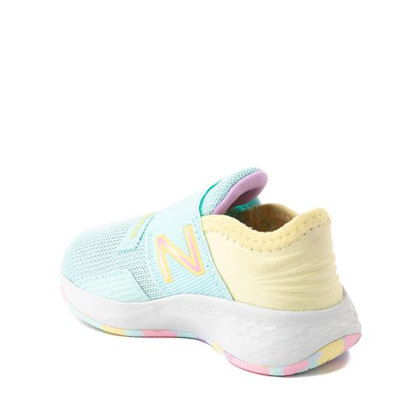 alternate view New Balance Fresh Foam Roav Slip On Athletic Shoe - Baby / Toddler - Mint / MulticolorALT1