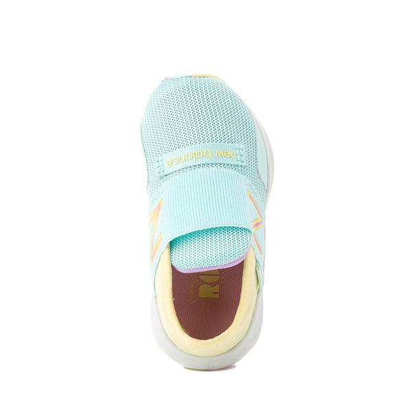 alternate view New Balance Fresh Foam Roav Slip On Athletic Shoe - Baby / Toddler - Mint / MulticolorALT2