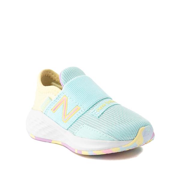 alternate view New Balance Fresh Foam Roav Slip On Athletic Shoe - Baby / Toddler - Mint / MulticolorALT5