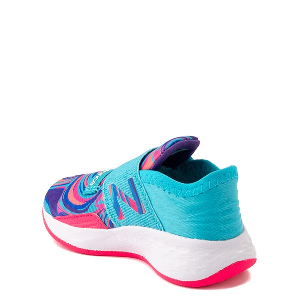 alternate view New Balance Fresh Foam Roav Slip On Athletic Shoe - Baby / Toddler - Aqua / SwirlALT1