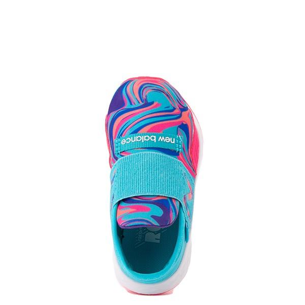 alternate view New Balance Fresh Foam Roav Slip On Athletic Shoe - Baby / Toddler - Aqua / SwirlALT2