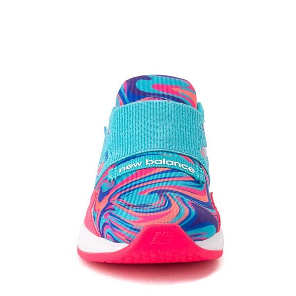 alternate view New Balance Fresh Foam Roav Slip On Athletic Shoe - Baby / Toddler - Aqua / SwirlALT4